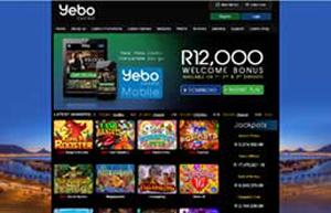 Yebo Casino website